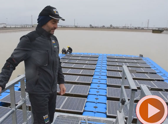 floating pv system in Italy