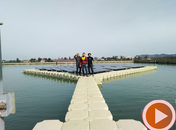 20 kWp floating pv system in Italy
