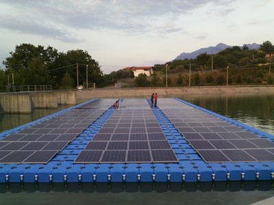 60 kWp Floating Solar Photovoltaic plant for Consorzio Bonifica Sele