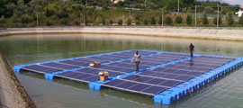 NRG floating solar photovoltaic system
